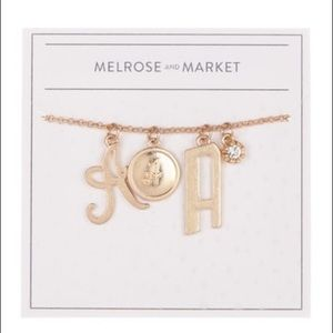 ✧ MELROSE AND MARKET INITIAL CHARM NECKLACE ✧